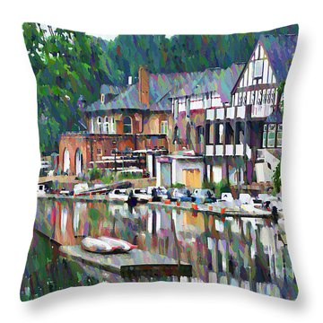Colorful Boats Throw Pillows