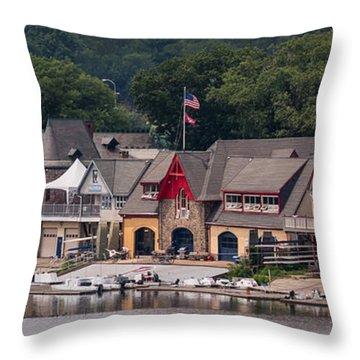 Boathouse Row Philadelphia Pa  Throw Pillow