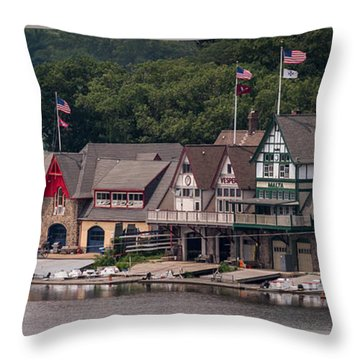 Boathouse Row Philadelphia Pa  Throw Pillow