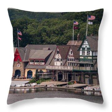 Boathouse Row Philadelphia Pa  Throw Pillow by Terry DeLuco