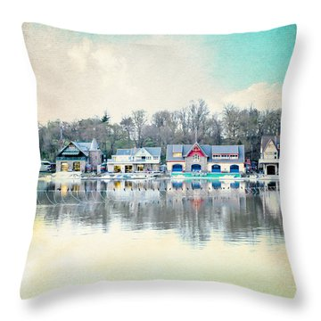Boathouse Row Philadelphia Pa V1 Throw Pillow