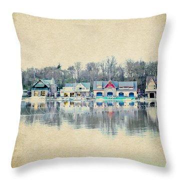 Boathouse Row Philadelphia Pa V2 Throw Pillow