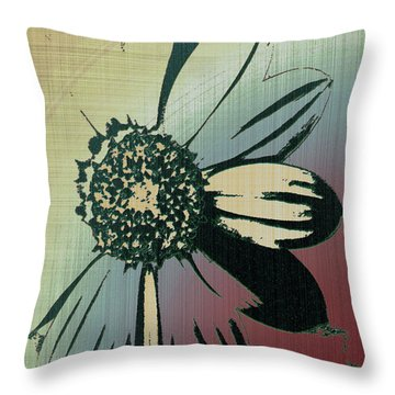 Boating Flower Z Throw Pillow