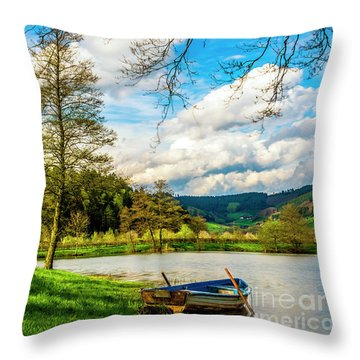 Boating On Golden Pond 254  Throw Pillow