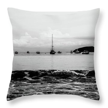 Boats And Waves 2 Throw Pillow
