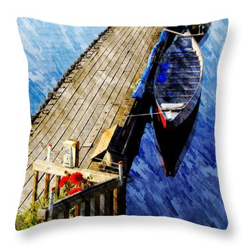 Boats At Rest Throw Pillow by Bill Howard