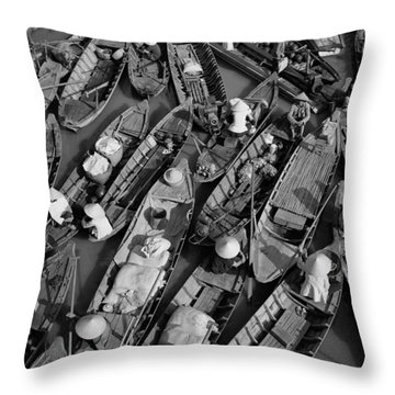 Boats, Hoi An, Vietnam Throw Pillow by Huy Lam