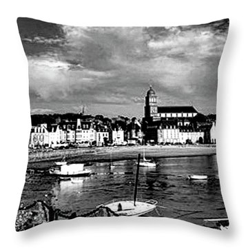 Boats In The Anse Throw Pillow