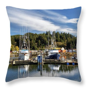 Throw Pillow featuring the photograph Boats In Winchester Bay by James Eddy