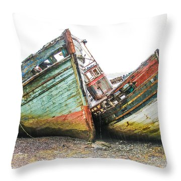 Boats Isle Of Mull 4 Throw Pillow