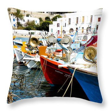 Boats On Parthos Throw Pillow