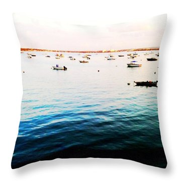 Boats At Dusk Throw Pillow by Heather Classen