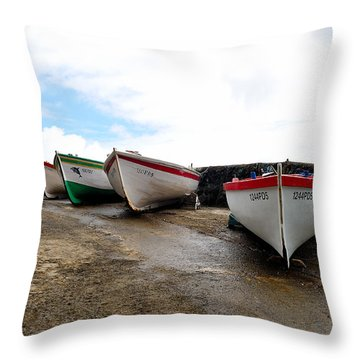 Boats,fishing-24 Throw Pillow