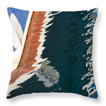 Boatside Reflection Throw Pillow