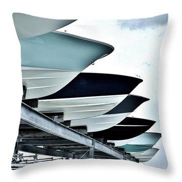 Boatyard, Tiki 52 Throw Pillow by John Wartman