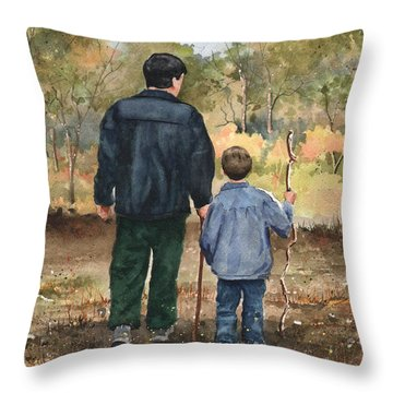 Bob And Alex Throw Pillow by Sam Sidders