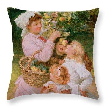 Bob Apple Throw Pillow by Frederick Morgan