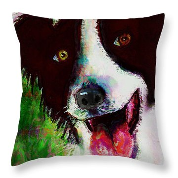 Bob Throw Pillow by Arline Wagner