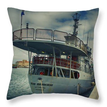 Bob Barker Throw Pillow