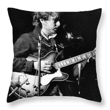 Bob Dylan (1941- ) Throw Pillow by Granger