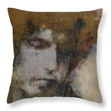 Bob Dylan - The Times They Are A Changin' Throw Pillow