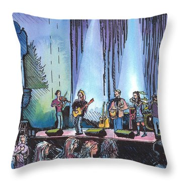 Bob Dylan Tribute Show Throw Pillow by David Sockrider