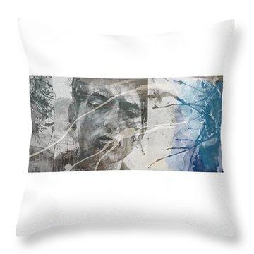 Bob Dylan Triptych Throw Pillow