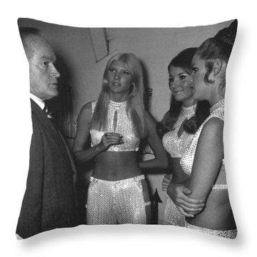 Throw Pillow featuring the photograph Bob Hope- The Ding-a-ling Sisters by Renee Anderson