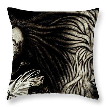 Bob Marley - Lion Heart Throw Pillow