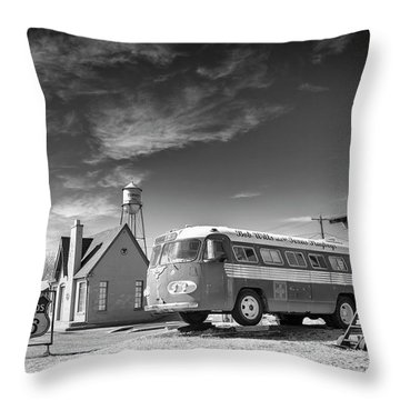 Bob Wills And The Texas Playboys Tour Bus Turkey Tx Throw Pillow