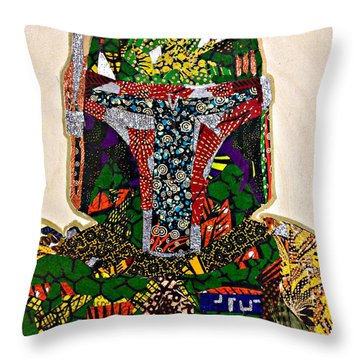 Boba Fett Star Wars Afrofuturist Collection Throw Pillow
