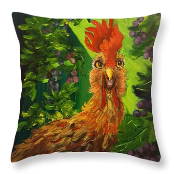 Bobbies Fermented Grapes   90 Throw Pillow