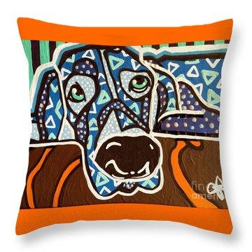 Bobby Blue Eyes Throw Pillow