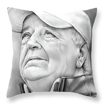 Bobby Bowden Throw Pillow by Greg Joens