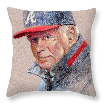 Bobby Cox Throw Pillow