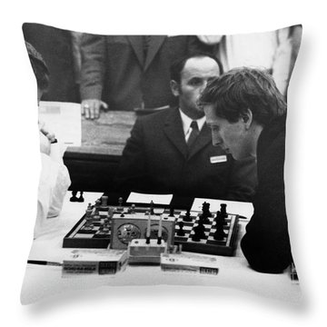 Bobby Fischer (1943-2008) Throw Pillow