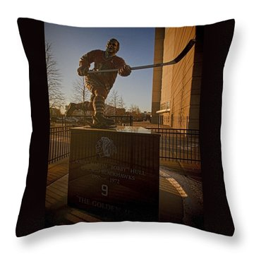 Bobby Hull Sculpture Throw Pillow
