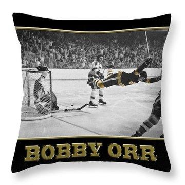 Bobby Orr 6 Throw Pillow