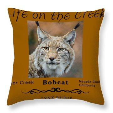 Bobcat - Lynx Rufus Throw Pillow