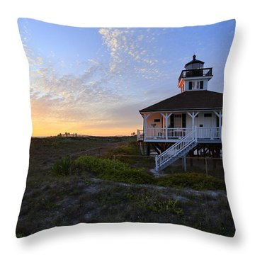 Boca Grande Lighthouse, Gasparilla Island, Florida, U S A Throw Pillow