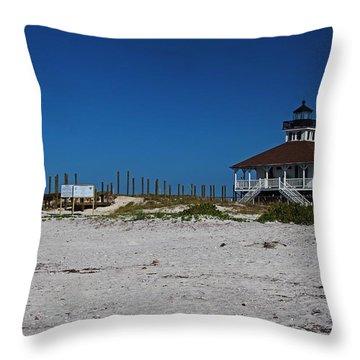 Throw Pillow featuring the photograph Boca Grande Lighthouse Ix by Michiale Schneider