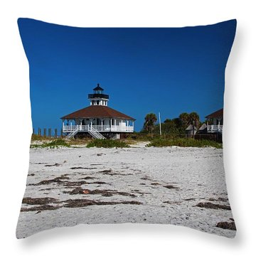 Throw Pillow featuring the photograph Boca Grande Lighthouse X by Michiale Schneider