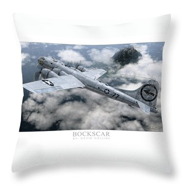 Bockscar  Throw Pillow by David Collins