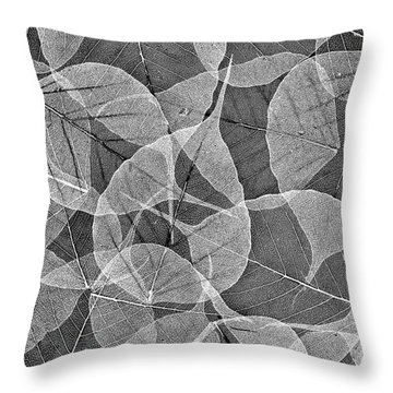 Bodhi Tree Leaves Throw Pillow
