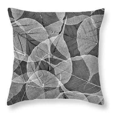 Bodhi Tree Leaves Throw Pillow