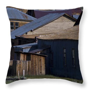Throw Pillow featuring the photograph Bodie 31 by Catherine Sobredo