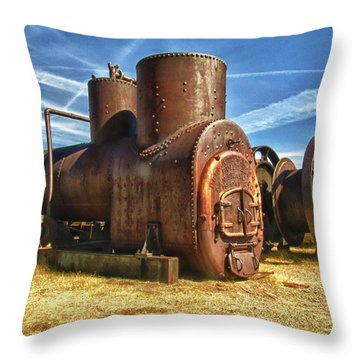 Old Boiler Bodie State Park Throw Pillow by James Hammond
