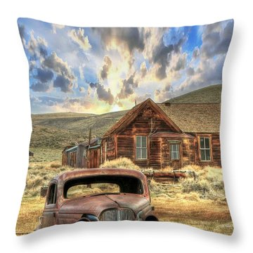Bodie Ghost Town Throw Pillow