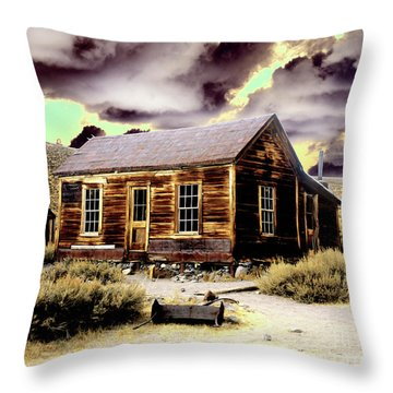 Throw Pillow featuring the photograph Bodie House by Jim and Emily Bush