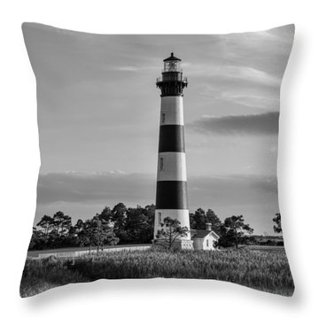 Bodie Island Light Station Throw Pillow